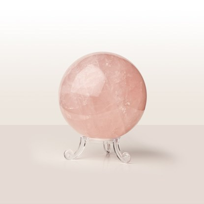rose quartz crystal ball